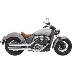 "Indian Scout Årg. 2014-2018 Bassani Xhaust 3"" Slash Cut Slip-on Udstødning"